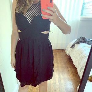 Sandro Cutout dress - Black - size 36/38 (s/m)